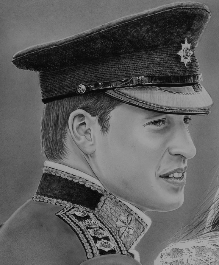 "Original painting ""Wedding portrait William and Kate"" (detail) by Rudy M Vandecappelle - dry brush - oil on paper. For commissions of any portraits (people, wedding, animals), please visit my website."
