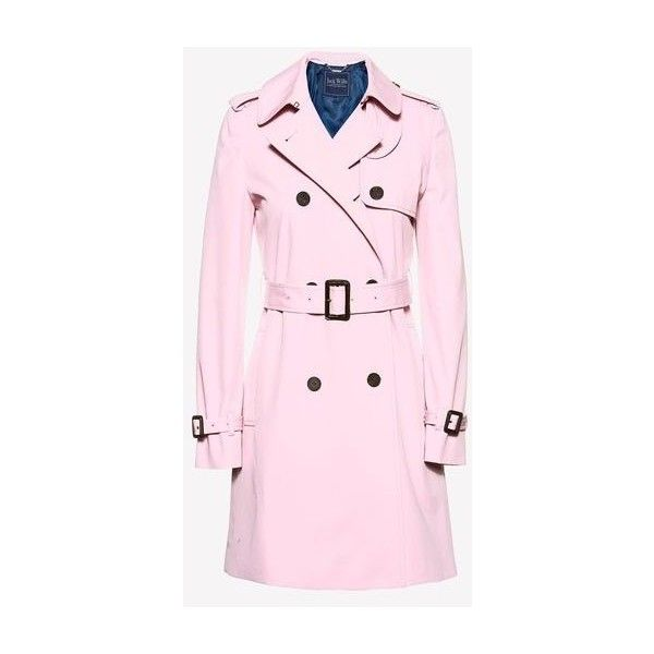 DUNCOMBE TRENCH COAT ($229) ❤ liked on Polyvore featuring outerwear, coats, jack wills coat, pink trench coat, pink coat, jack wills and trench coat