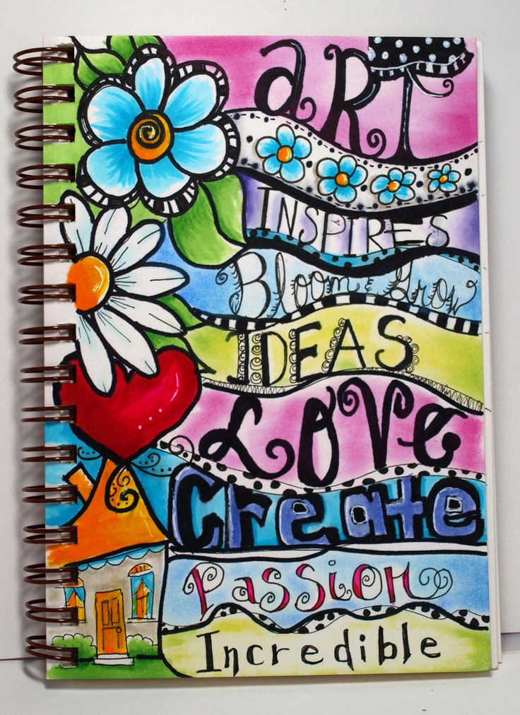 Simple Book Cover Drawing ~ Best ideas about art journal covers on pinterest