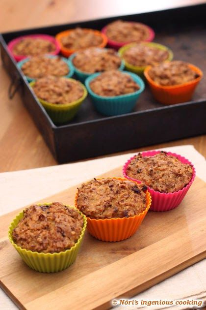 Nóri's ingenious cooking: Cabbage & pepper muffins (sugar-, gluten- and dairy-free)