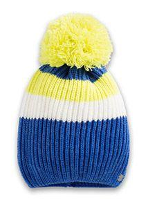 Esprit / Soft hat in a striped rib stitch