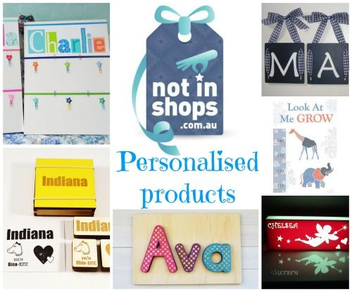 Personalised gifts for kids - all from 'Not in Shops'