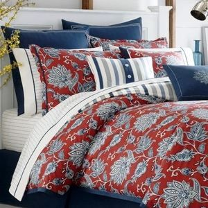 Nautica tisbury queen 5 pc comforter set red white blue - Red white and blue sheets ...