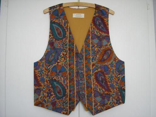 Tan/Purple Paisley Mens Waistcoat 40 - 42