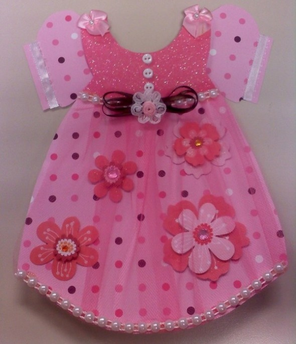 Trendy Summer Baby Girl Dresses: Babies, Baby Girl Dresses, Baby Cards, Baby Shower Ideas, Cute Ideas, Dresses Baby Show, Cards Invitations Scrapbook, Baby Girls Cards Ideas, Baby Girls Dresses