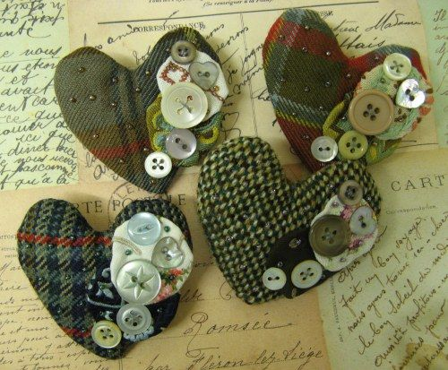 tweed hearts