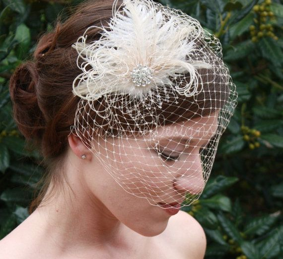 this is a separate veil and fascinator clip.  this chick wants 80 bucks for the set, perhaps I can find similar things separate?