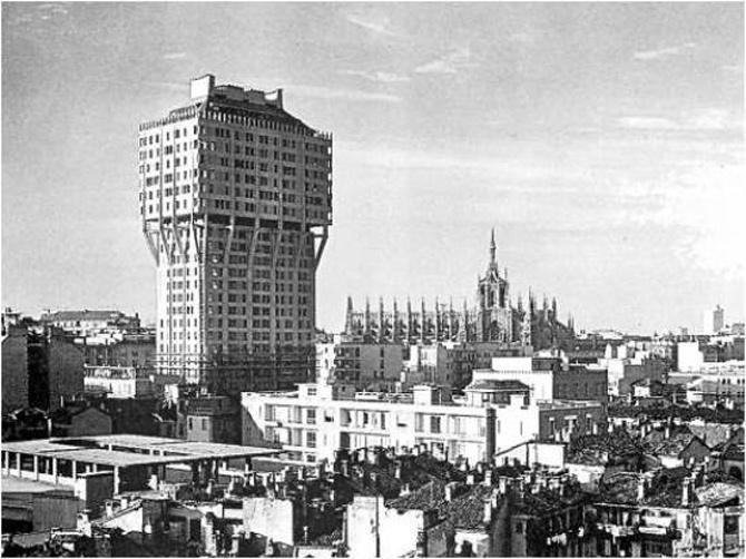Torre Velasca, Mediolan - Powojenny Modernizm
