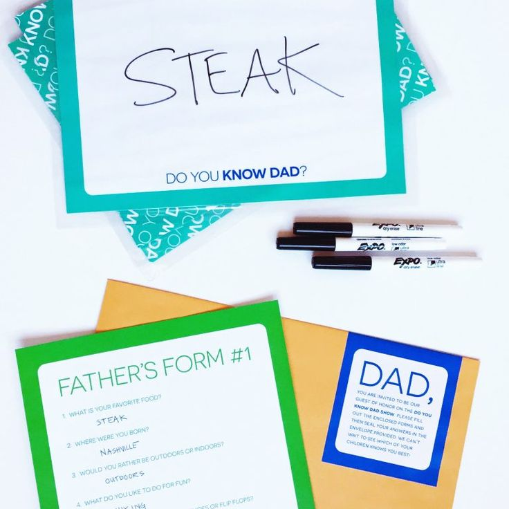 """FREE PRINTABLE """"Do You Know Dad"""" Game for Father's Day"""