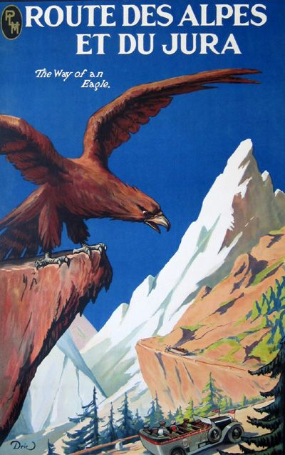 Route Des Alpes by Dric - Vintage Travel Posters Gallery at I Desire Vintage Posters