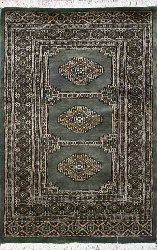 Traditional Hand Knotted Bokhara Area Rug Green Beige Persian Rug Size 2 5 X 4 Area Rugs Persian Rug Rug Size