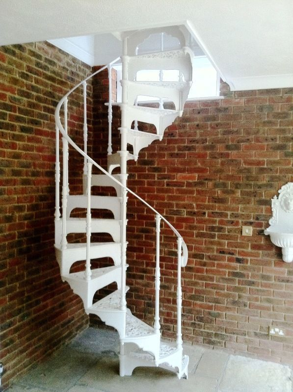 Best Antique Cast Iron Spiral Staircase With Landing And 400 x 300