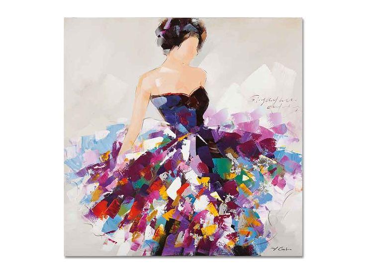 Les 21 meilleures images du tableau portrait de femme sur pinterest tableaux modernes robe - Tuto peinture abstraite contemporaine ...