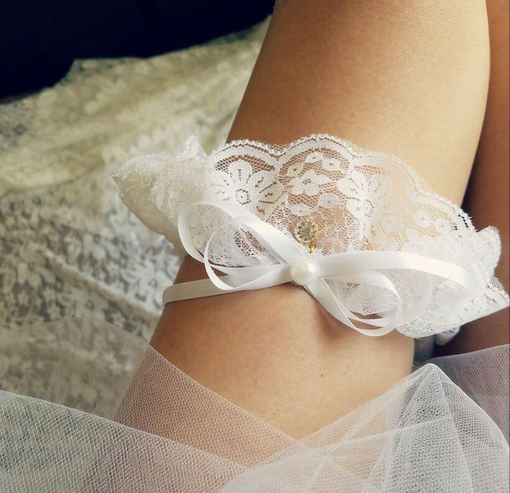 Lace Garter Single Handmade Wedding White Bridal