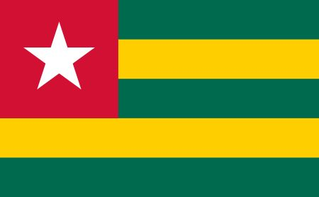 Free Togo flag graphics, vectors, and printable PDF files. Get the free downloads at http://flaglane.com/download/togolese-flag/