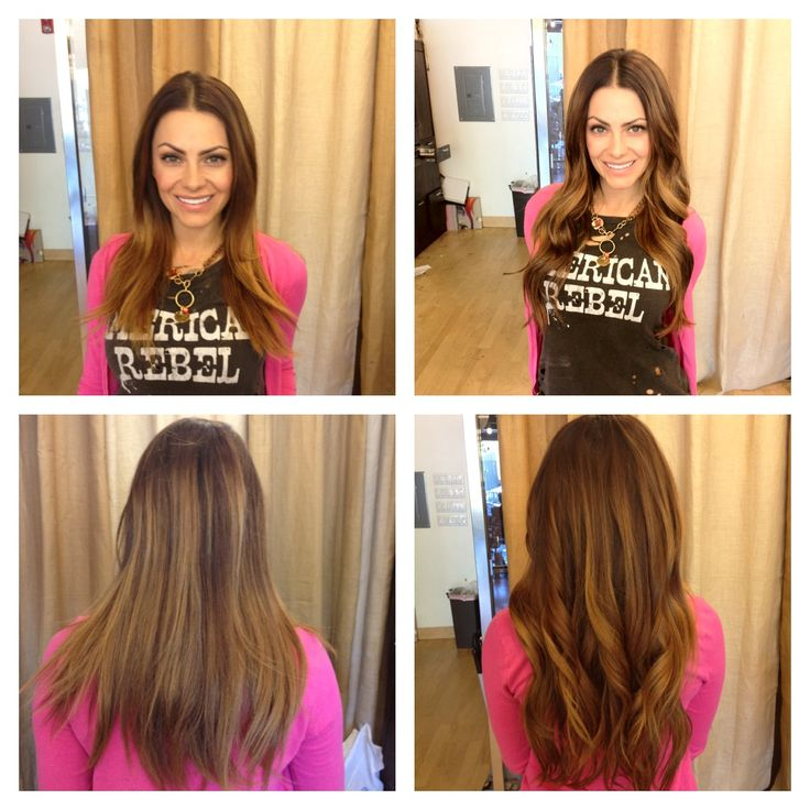 Michelle Money hair extensions before and after by dkwstyling