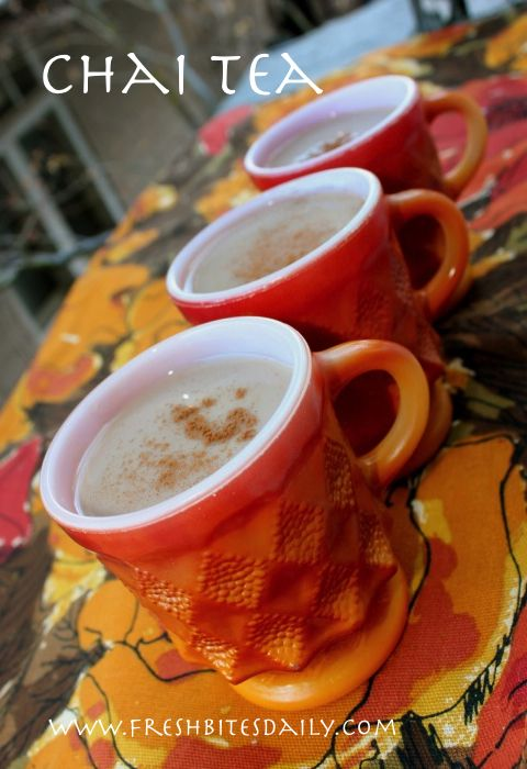 Homemade chai tea, a simple and healthy beverage