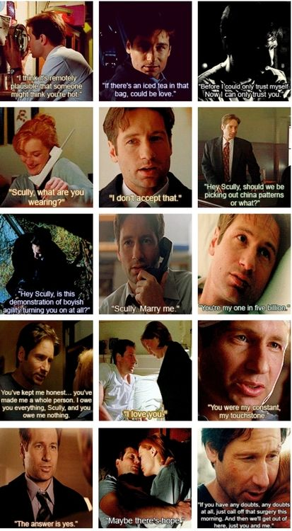 Mulder was actually always hitting on Scully - it's just no one knew he was totally serious until about season 7 or so....
