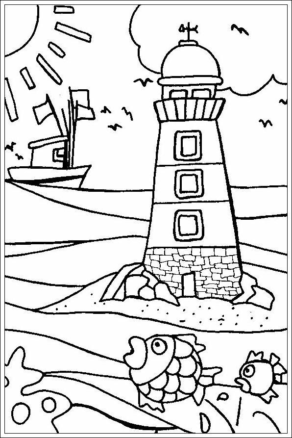 Ausgezeichnet Druckbare Strand Malvorlagen Ideen - Beispiel ...