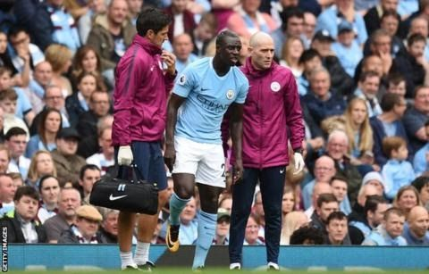 "Left-back Benjamin Mendy is the world's most expensive defender  Manchester City defender Benjamin Mendy has ruptured the anterior cruciate ligament in his right knee.  The 23-year-old left-back suffered the injury in the first half of the 5-0 Premier League win over Crystal Palace on Saturday. Mendy became the world's most expensive defender in the summer after joining City from Monaco for 52m. The France international will see a specialist in Barcelona and have surgery on Friday. ""Bad news…"
