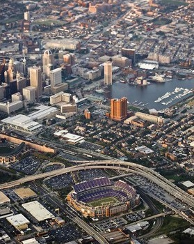 M & T Stadium Baltimore Ravens Aerial photo
