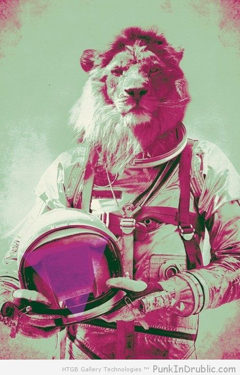Astronaut Lion