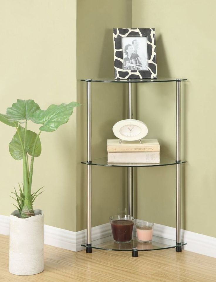 25 best ideas about glass corner shelves on pinterest - Bathroom glass corner shelves shower ...