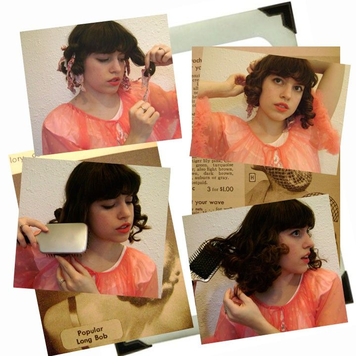How to do Rag Curls from Vixen Vintage. #hair #tutorial (vixenvintage.blogspot.com/2009/05/how-to-do-rag-curls.html)