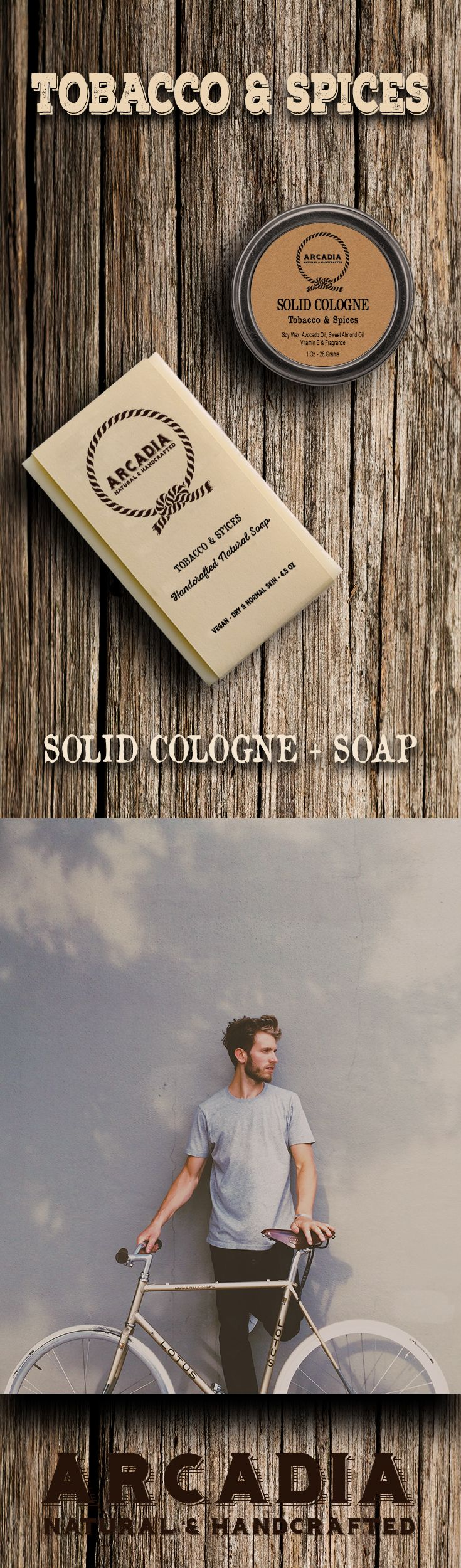 Tobacco & Spices Solid Cologne in a Travel Tin + Natural Soap #solidcologne #naturalsoap #vegancologne