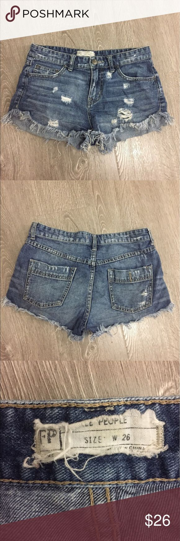 Free People Cut Offs Slight dolphin cut. Gently worn. Super soft. Free People Shorts Jean Shorts