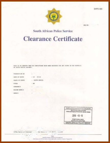 6 Clearance Certificate Templates Free Printable Word Pdf