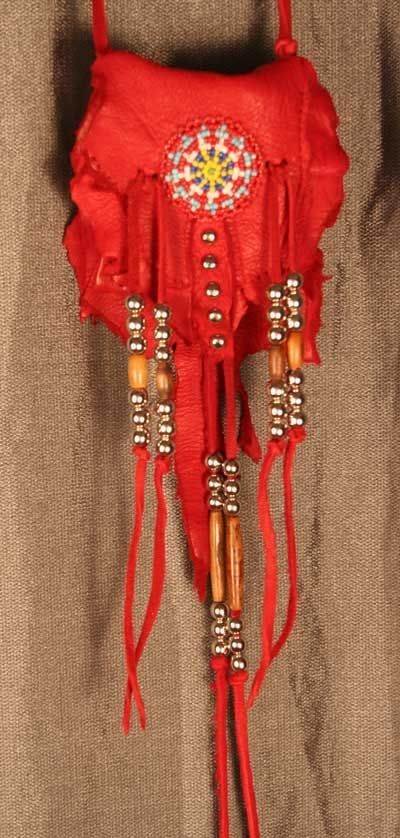 Nine Points of Light Native American Style Fringed Medicine Bag