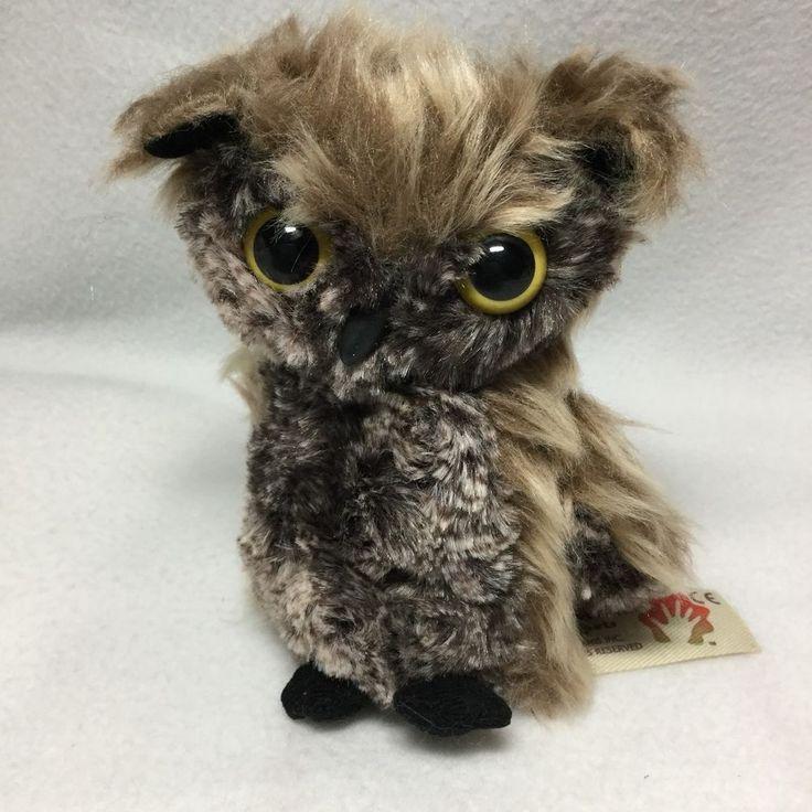 "Folkmanis Screech Owl Puppet Move-able Head Plush Soft Toy Bird 5"" #Folkmanis"