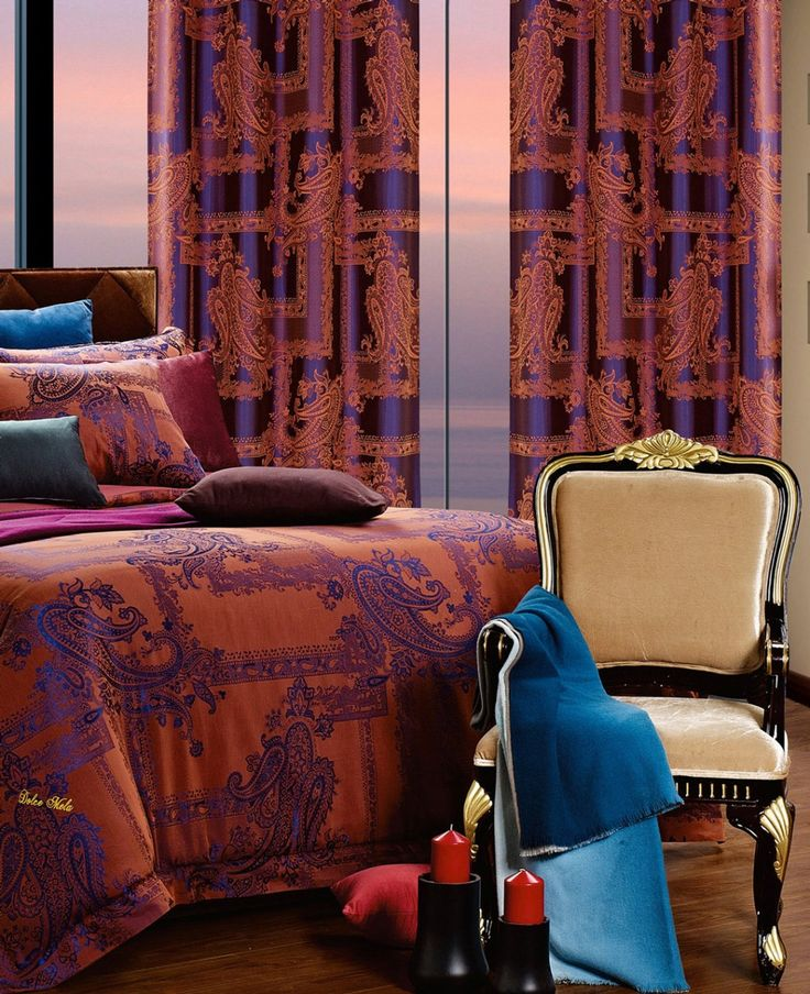 Calypso Curtains. Matching bed set available.