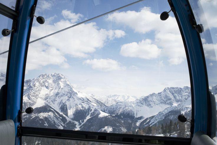 Ski resort Lermoos in Tyrol, Austria