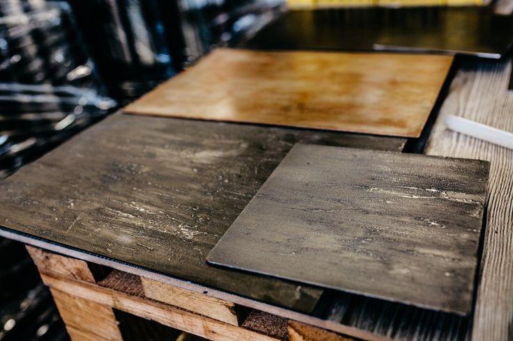 Prototipi prodotti: prove di verniciatura.