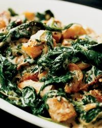 Creamed Spinach and Parsnips - (I would purée the parsnips and fold them gently into the creamed spinach for an extra creamy touch)