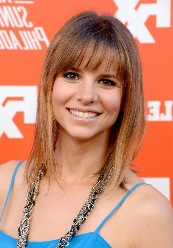 Jill Latiano Medium Straight Cut with Bangs for Fine Hair | Styles ...