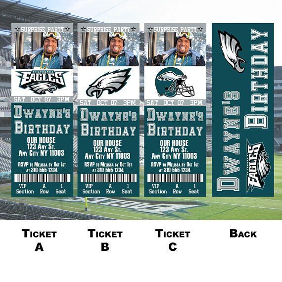 Philadelphia Eagles Ticket Invitation