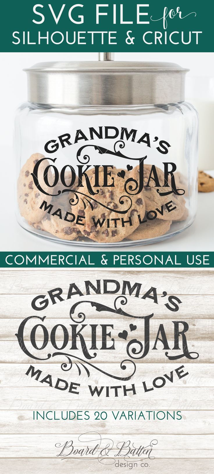 Cookie Jar SVG File With Name Variations Cricut, Svg