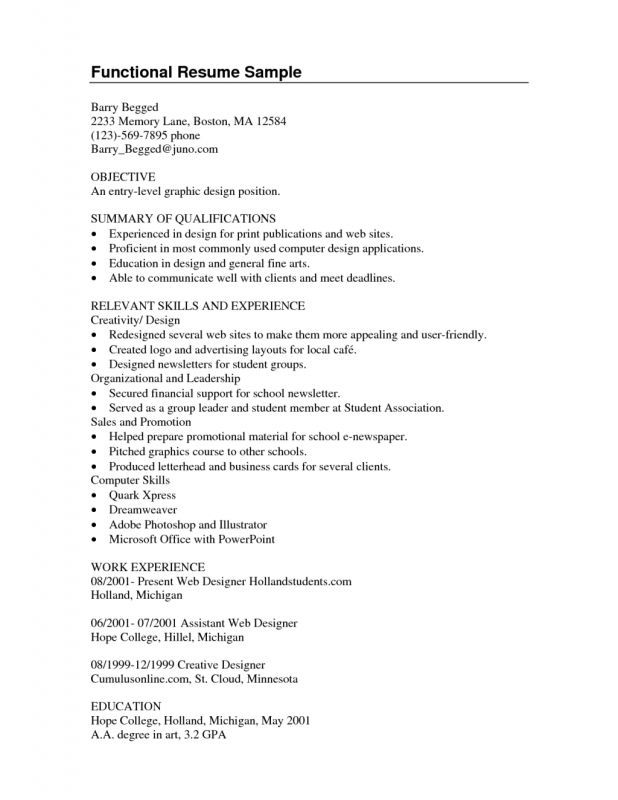 Graphic Design Resume Objective Examples