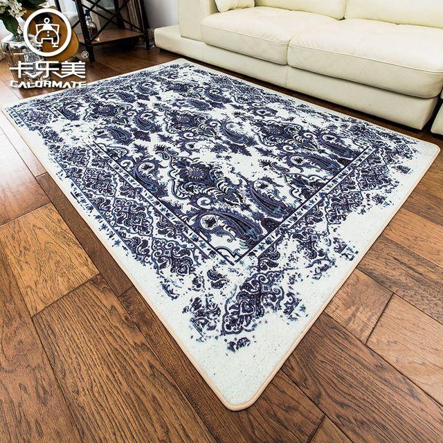 Большой размер Европейский стиль ретро рисунок синий и белый диван Спальня Ковер Защита Окружающей Среды, Не скольжения Гостиной Коверкупить в магазине xiangyu guo's storeнаAliExpress