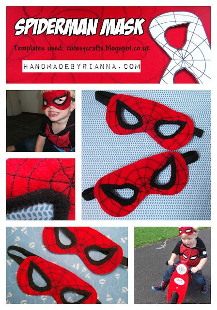 Spiderman felt dress up costume / mask D.I.Y