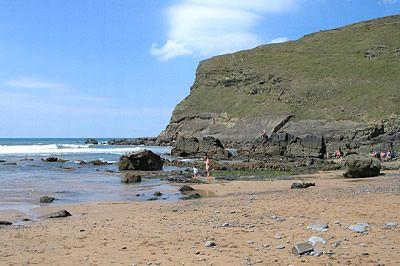 Beach at Duckpool, Cornwall