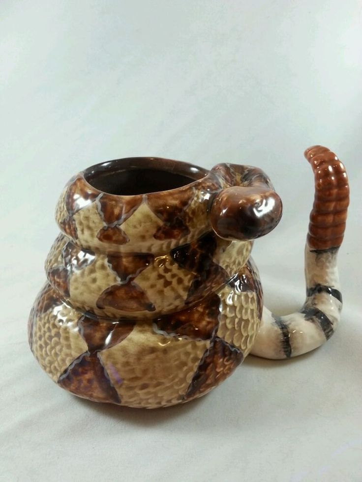 Coiled RATTLESNAKE Ceramic Mug -Graham-2006 in Collectibles, Decorative Collectibles, Mugs, Cups | eBay