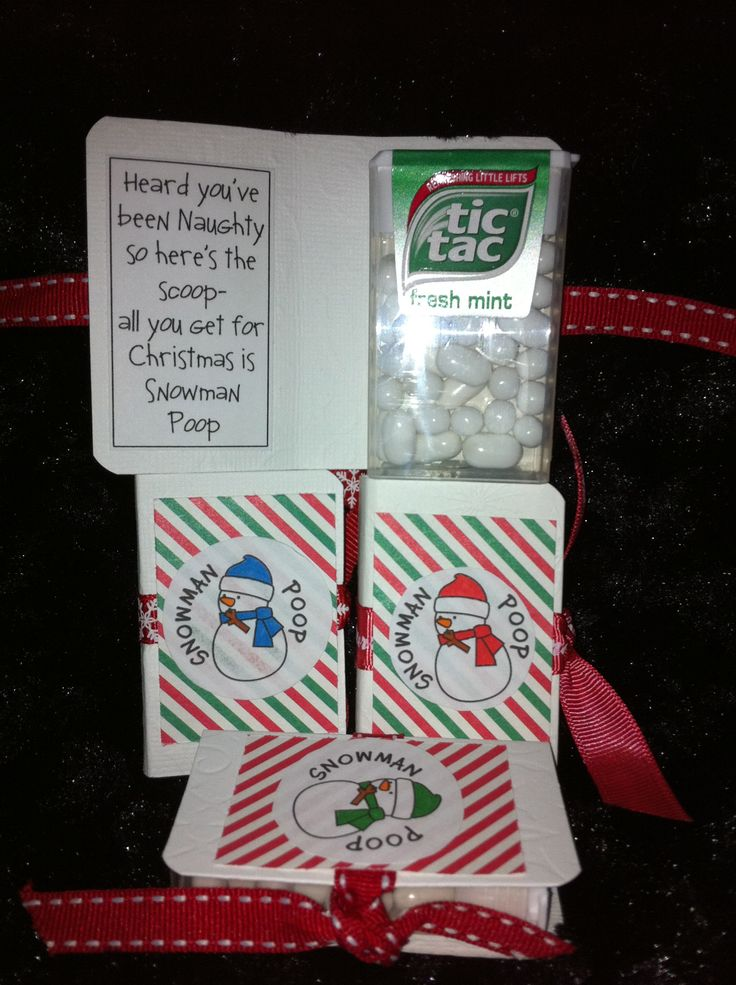 Snowman poop. Tictacs with a funny poem. Great handmade stocking filler or class gift.