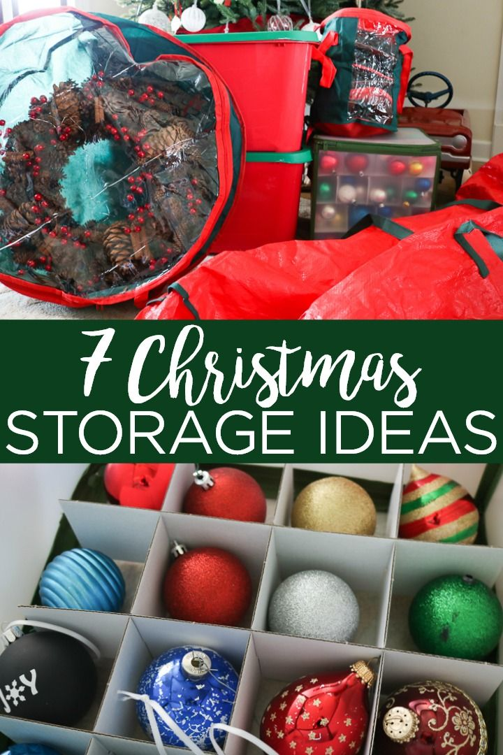 7 Christmas Decoration Storage Ideas You Can T Live Without In 2020 Christmas Decoration Storage Christmas Ornament Storage Christmas Tree Storage