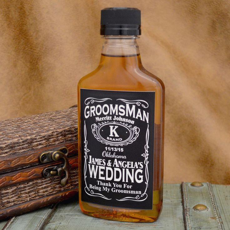 Custom Liquor Label Whiskey Inspired for Groomsmen
