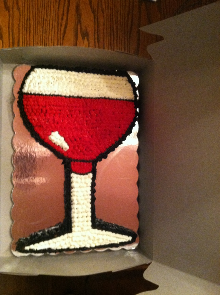 Wine Glass Birthday Cake Party Ideas Pinterest