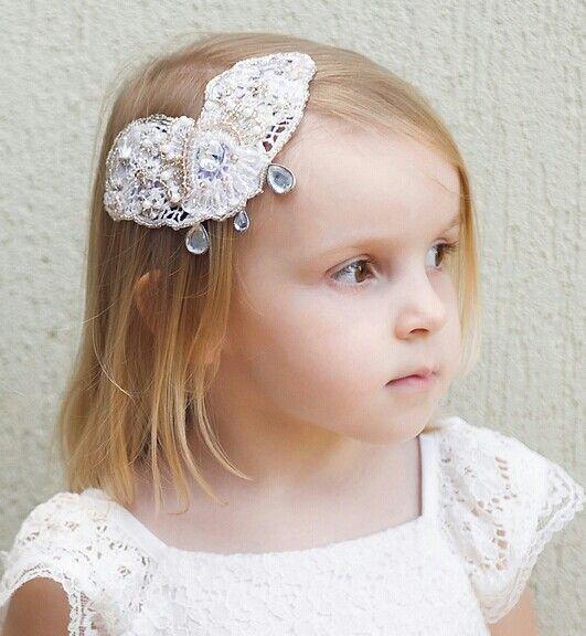 bridesmaid, flower girl headpiece clip